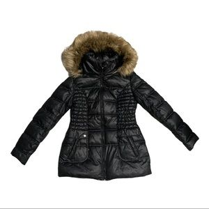 Laundry by Design puffer jacket faux fur hoodie